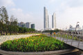Floating forest in nanjing green olympic culture and sports park Royalty Free Stock Photo