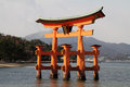 Floating gate of Itsukushima Shrine Royalty Free Stock Photo