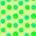 Floating green seeds circle seamless background Royalty Free Stock Photo