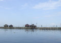 Floating houses on Danau (lake) Tempe in Sulawesi