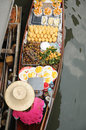 Floating market damnoen saduak thailand boats loaded with fruits and vegetables in ratchaburi Stock Photography
