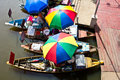 Floating market in songkhla thailand Royalty Free Stock Image