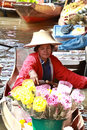Floating market.thailand Royalty Free Stock Photo