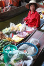 Floating Market, Thailand. Royalty Free Stock Photo
