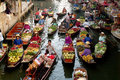 Floating market in Thailand. Royalty Free Stock Photo