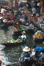 Floating market in thailand ratchaburi january markets on january damnoen saduak ratchaburi province until recently the main Stock Photography