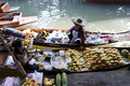 Floating Market Vendors Stock Photo