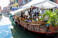 Floating market in Venice Royalty Free Stock Photo