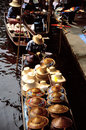 Floating markets of Damnoen Saduak Royalty Free Stock Photography