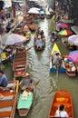 Floating markets in Damnoen Saduak, Thailand Royalty Free Stock Photography