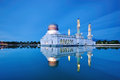 Floating Mosque in Kota Kinabalu city in Malaysia Royalty Free Stock Photo