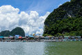 Floating Muslim Village Koh Panyee Island Royalty Free Stock Photo