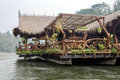 Floating Raft Hotel on the River Kwai Royalty Free Stock Photo