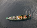Floating shop service for sea going vessels at anchor shallow marine vendors about ivory coast Stock Photography