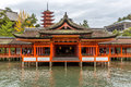 Floating Shrine Miyajima, Hiroshima Royalty Free Stock Photo