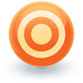Floating target icon Stock Photo