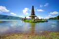Floating temple in bali indonesia bedugul Stock Image