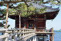 Floating temple, Japan