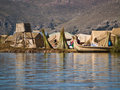 Floating Uros Islands Royalty Free Stock Photography