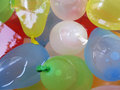 Floating water bombs colorful on Royalty Free Stock Photo