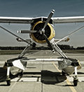 Floatplane at airport in poznan Royalty Free Stock Photo