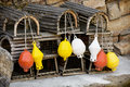Floats and cages in the zoo Royalty Free Stock Image