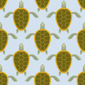 Flock of sea turtles. Water turtle seamless pattern. Vector back Royalty Free Stock Photo