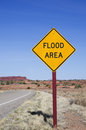 Flood Area Sign Royalty Free Stock Photo