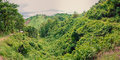 Flood in bangladesh scenic panorama of green valley Royalty Free Stock Photo