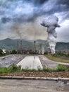 Flood in bosnia and herzegovina river bosna Royalty Free Stock Photo