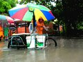 Flood caused by typhoon mario international name fung wong in the philippines on september residents of cainta rizal walk through Stock Image