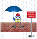 Flood defence Royalty Free Stock Photos