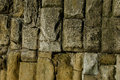 Flood defence wall detail stonework Royalty Free Stock Photo