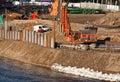 Flood defences Royalty Free Stock Photo