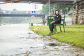 Flood. Royalty Free Stock Photo