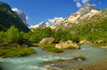 Flood in mountains this is river caucasus Stock Photography