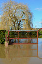 Flood at Pub Restaurant Car Park, Romsey, Hampshir Stock Image
