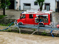 Flood in in steyr austria floods and floods Royalty Free Stock Image