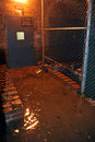 Flooded building entrance caused by Hurricane Sand Royalty Free Stock Photos