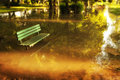 Flooded park beautiful in bosnia Stock Images