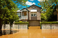 Flooded Queenslander home Royalty Free Stock Image