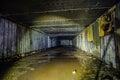 Flooded room. Object 221, abandoned soviet bunker, reserve command post of Black Sea Fleet Royalty Free Stock Photo