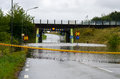 Flooded streets in sweden flooding august Stock Photos
