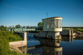 Floodgate on the Narew river Royalty Free Stock Photo