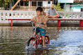 Flooding in Bangkok city.Thailand. Stock Images