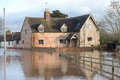 Flooding in gloucestershire the febuary uk Royalty Free Stock Image