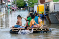 Flooding in Nakhon Ratchasima, Thailand Stock Photography