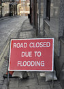 Flooding sign Royalty Free Stock Images
