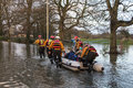 Flooding - Rescue - Yorkshire Royalty Free Stock Photo