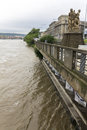 Floods prague june massive raining caused raise of the river vltava that goes through the middle of the with several city Royalty Free Stock Photography